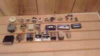 vintage ham radio components lot of 30 pcs. switches, control relays,converter