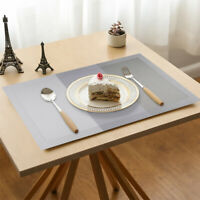 Placemats Set of 4 Vinyl Woven Washable Kitchen Dining Table Mat Heat Insulation