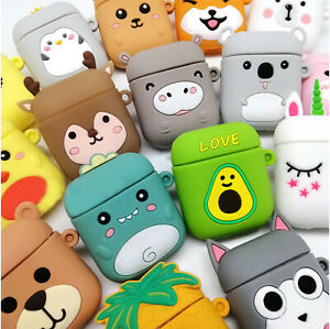 Cute Cartoon Fruit Style Protective Soft Silicone Case for AirPods 1st 2nd Gen