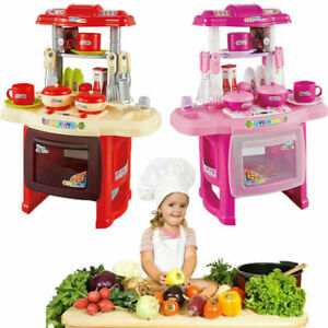 Childrens/Kids Funny Toy Pots Pans Kitchen Pretend Cooking Baking Play-Food Set