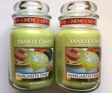 Yankee Candle MARGARITA TIME 22 oz LARGE JARS X 2 HTF RETIRED SCENT