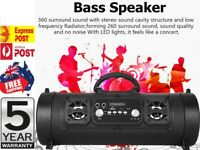 Portable Wireless Bluetooth Speakers Stereo Subwoofer TF USB AUX FM Boombox -AUS