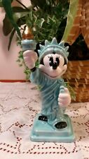"""Disney Minnie Mouse As Statue Of Liberty Figurine - Porcelain-New - 5.5"""" V. Nice"""