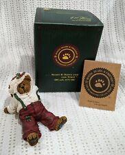 "Boyds Bears ""Nickleby Santabear December 26th"" #228418 Christmas Figurine Nib!"
