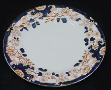 OLD MYOTT ENGLISH IMARI STYLE PLATE, INDIANA PATTERN, AESTHETIC MOVEMENT