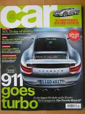 Car October 2015 Porsche 911 Turbo Audi TT S Mazda MX-5 Toyota GT86 McLaren 650S