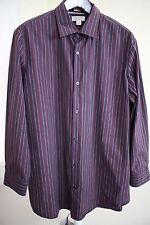 Banana Republic Cotton & Nylon Blend Multi-Colored Striped Dress Shirt Size - XL