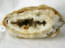 3) Large Bunny Rabbit Agate Crystal Geode - Great Gift Home Art Décor