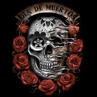 Dia De Los Muertos Day Of The Dead Skull Roses Cool T-Shirt Tee