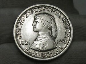 1921 Missouri US Commemorative Half Dollar.  #52