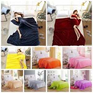 Pure Color Blanket Throw Coral Blankets Comforable Soft Air Conditioning Blanket