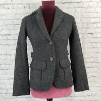 Gap herringbone 100% wool blazer jacket size 0