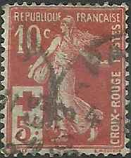 Timbre France Croix rouge semi moderne 147 o lot 21575