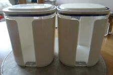 Estilo Vintage Juego De 3 Blanco Té Café Azúcar caddies Esmalte contenedor de almacenamiento