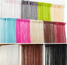 Plain String Curtains Patio Door Divider Fly Windows Fringe Net 100 W x 200 L