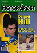 Motor Sport Feb 1993 - Damon Hill, Rick Mears, British F3, Triumph TR7 V8, 740i