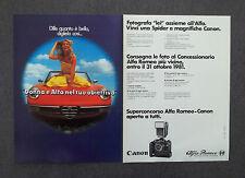 G291-Advertising Pubblicità - 1981 - CANON ALFA ROMEO