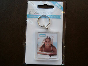 CREATE YOUR OWN PHOTO KEYRING  (holds 2 photo) - great gift idea