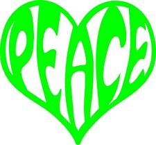 Peace in a Heart - Pick Your Color Vinyl Car Window Sticker Cutout