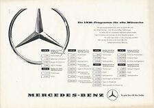 MERCEDES BENZ camion programme prospectus 1957 1 Bl. L 319 326 315 camion truck