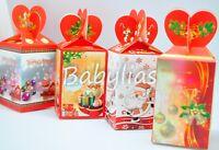 12 Christmas Gift Boxes Holiday Xmas Party Santa Tree Candy Ornament Case Decor