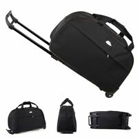 """24"""" Rolling Tote Duffle Bag Wheeled Carry On Luggage Waterproof Travel Suitcase"""