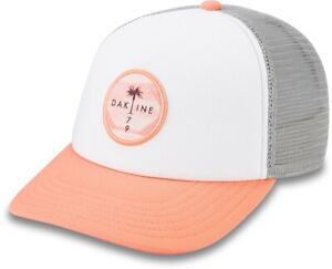 Dakine Circle Palm Trucker Snapback Cap Womens Crabapple New 2021 Hat