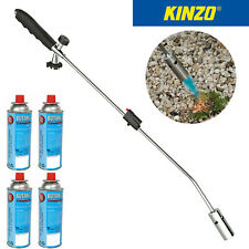Kinzo Universal Unkrautvernichter Unkrautbrenner Abflammgerät + 4 Gaskartuschen
