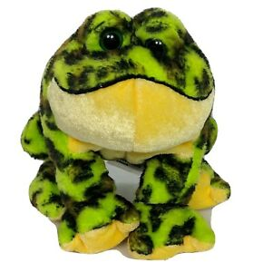"Ganz Webkinz Lil Kinz Bullfrog Plush Green Brown Spotted Stuffed Animal HS114 5"""