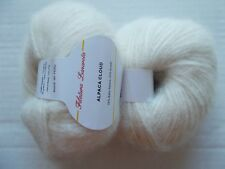Filatura Lanarota Alpaca Cloud luxury yarn, Natural, lot of 2 (109 yds ea)