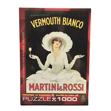 Martini & Rossi Vermouth Bianco Eurographics 1000 PIece Puzzle New