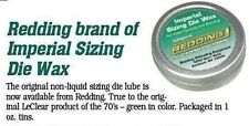 21022 REDDING IMPERIAL SIZING DIE WAX - 1 OZ TIN - BRAND NEW - GREEN