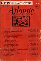 1936 Atlantic Monthly May - Rudyard Kipling; Robert Frost; When Harlem was Irish