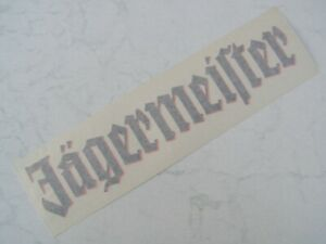 schwarz / oranger Jägermeister Transfer-Aufkleber ca. 30 cm x 6,5 cm groß