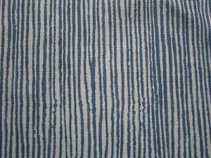 Groundworks Vertex Kelly Wearstler Fabric Pacifica Blue Tan 2 yds Solution Dyed