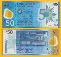 Uruguay 50 Pesos Uruguayos p-new 2018 Commemorative UNC Polymer Banknote