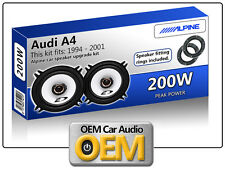 """AUDI A4 Porte avant haut parleurs Alpine 13cm 5.25 """" Enceinte voiture kit 200w"""