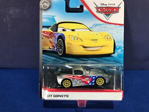 "Disney Cars ""Jeff Gorvette"" Silver, NEW Sealed, Blue Desert, Mint on Card, MOC"