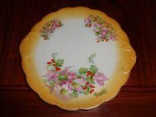 Ancien un nommé extrêmement jolie jaune avec Noël rose et Berry Gâteau Plaque