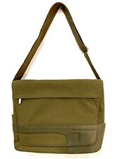 "Tumi Durable 16x12 Nylon Shoulder Bag XL Strap 15"" Laptop Carry All - 6172 Green"