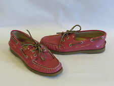 Sperry Top-Sider Dark Rose Patent Leather Loafers/Flats - 6.5M - GR8!