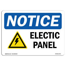OSHA Notice - Electrical Panel Sign With Symbol | Heavy Duty Sign or Label