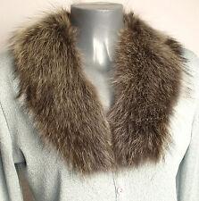 Kragen Pelz Waschbär Vintage Fell Pelzkragen Raccoon Nähen Basteln Natur Braun