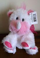 RUSS Rayanne White Rhino Rhinoceros Soft Plush Toy Bear Small NWT Stuffed Plush