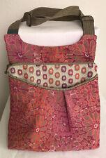 Maruca Crossbody Bag Floral Geometric Handbag Red Orange Purse Made In USA Flaw