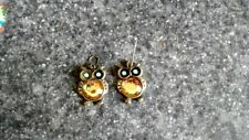 VINTAGE STYLE OWL DANGLE EARRINGS
