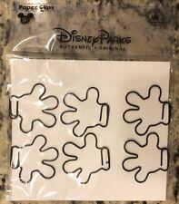 Disney Parks Mickey Mouse Binder Paper 6 Clips Disneyland Metal Glove Hand NEW