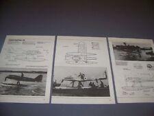 VINTAGE..SUPERMARINE S5 RACING SEAPLANE..4-VIEWS/DETAILS..RARE! (906B)