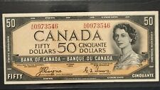 1954 $50 Canadian Banknote BC-34c Coyne/Towers VF25 Devils Face