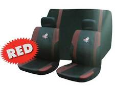 Roadstar WRX 6 Pc Car Seat Cover Set Red Black